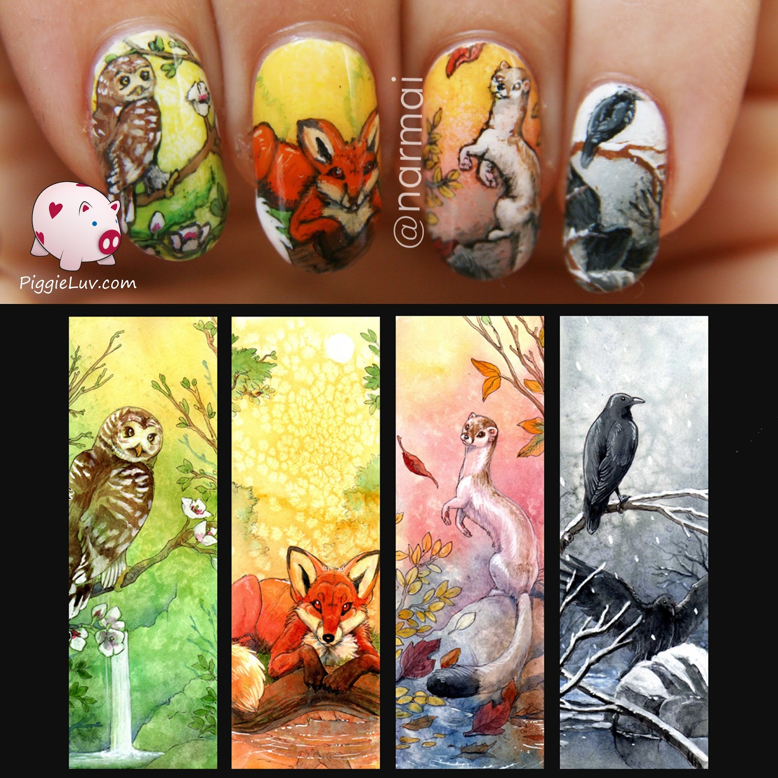 Four seasons with animals