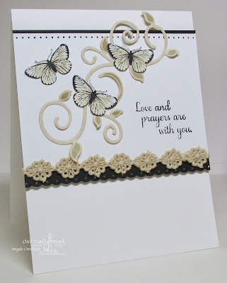 ODBD Sharing Your Sorrow, Stamped By-Butterfly Mini, ODBD Custom Fancy Foliage Die Set, Card Designer Angie Crockett