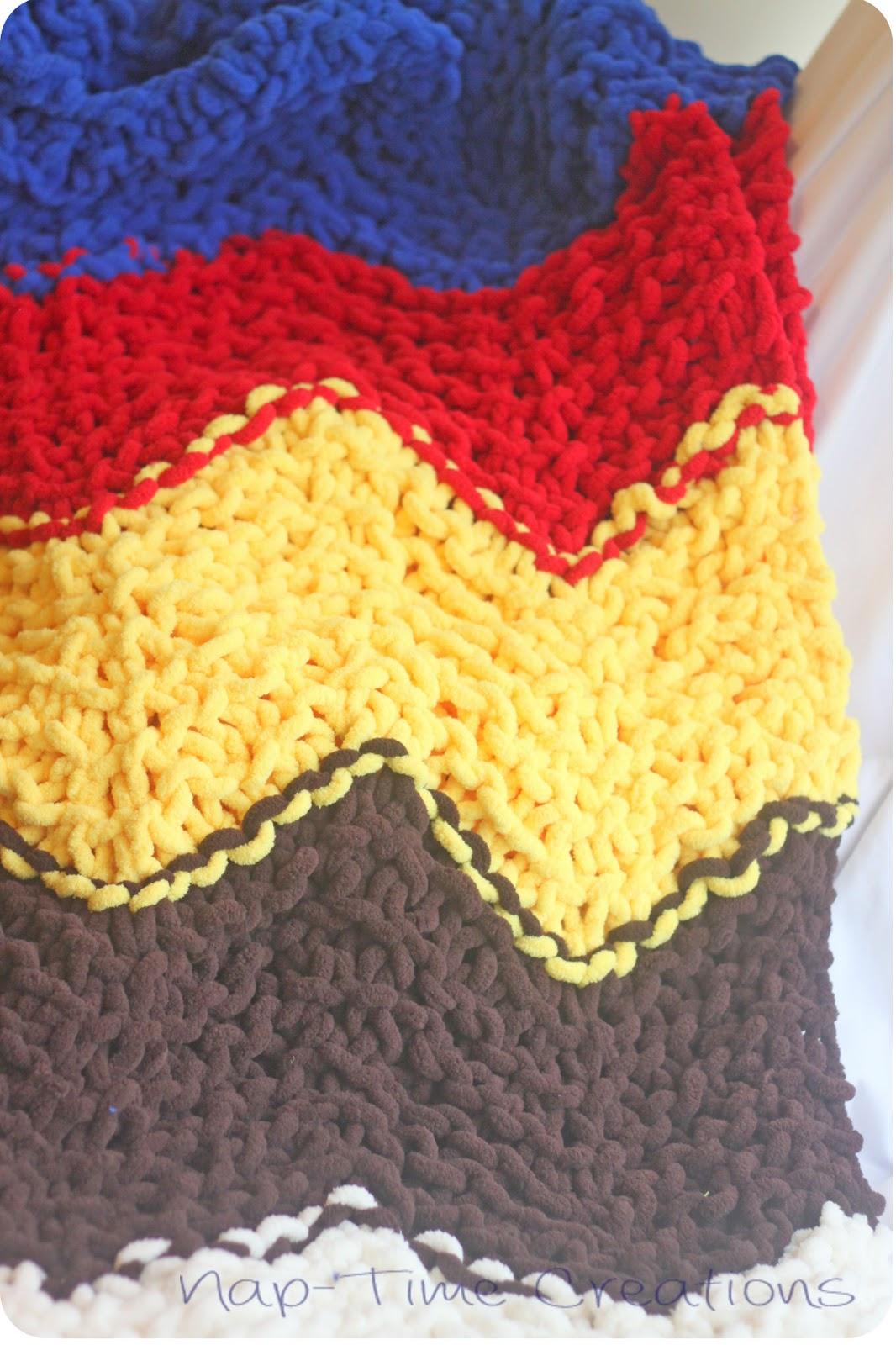 Chevron Baby Blanket {free knitting pattern} - Life Sew Savory