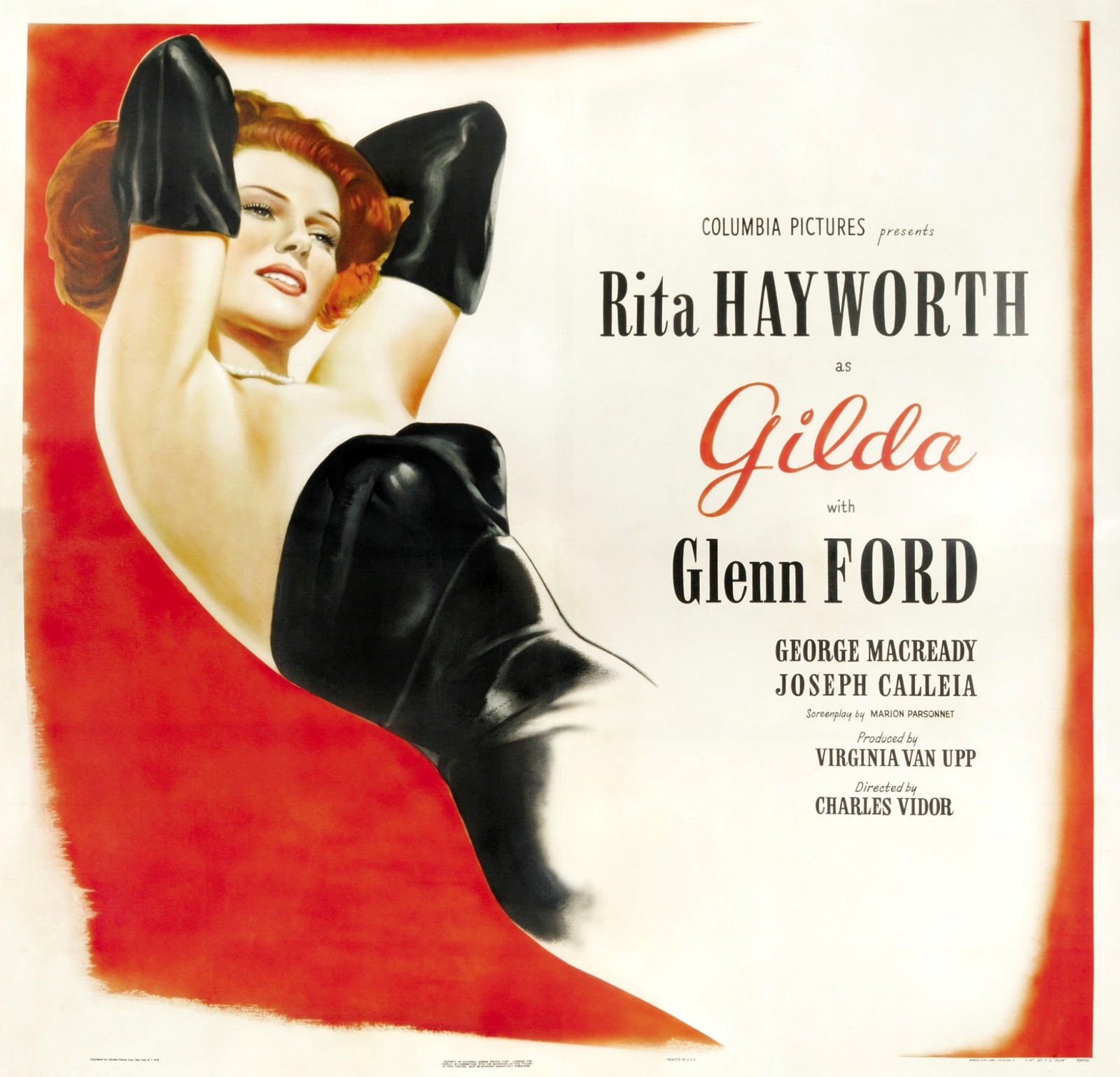 Bette's Classic Movie Blog: Gilda (1946) For Fabulous ...