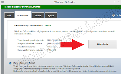 Windows Defender Güncelleme