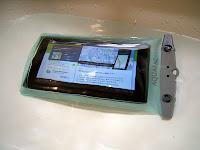 洗面台にて着水実験