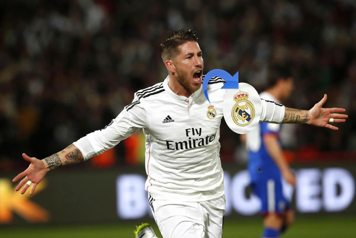 Escudo del Real Madrid con la cruz en el Mundial de Clubes