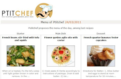 ptitchef features flower garden aglio olio with caviar