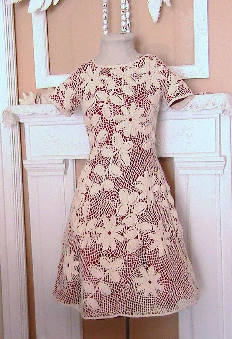 Irish Crochet Dress Free Patterns : Kattys Cosy Cove: Making an Irish Crochet Dress.