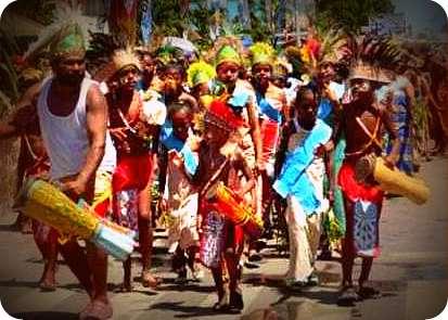 Puluhan Ribu Warga GKI Biak Selatan Gelar Parade Pekabaran Injil