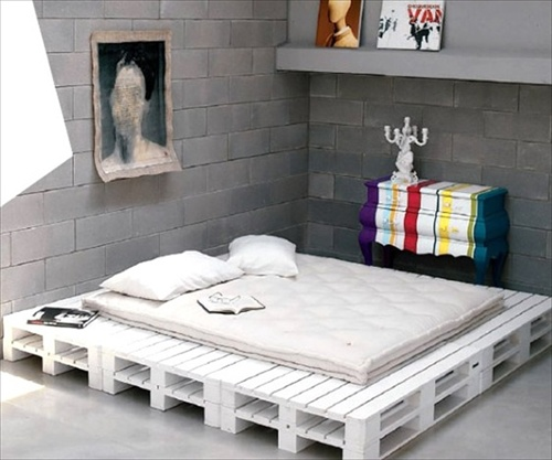 Pallet bed frame plans pallet furniture ideas for Bed design ideas furniture