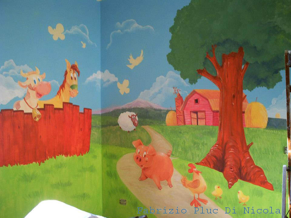Pluccomix murales cameretta bambini - Decorazione parete cameretta ...