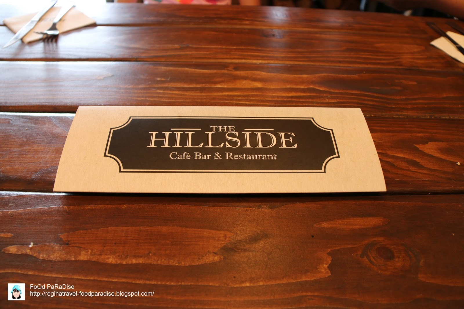 Hillside Cafe Penang Menu