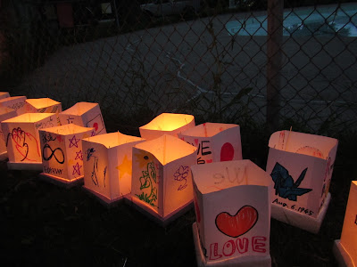 Hiroshima Day Kingston Peace Lantern Ceremony more glowing lanterns