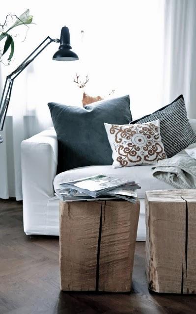 Deco un toque natural en tu hogar troncos reciclados virlova style - Tronco madera decoracion ...