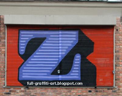 Graffiti Alphabet Letter Z