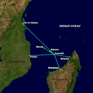 EWA Airlines Planned Network