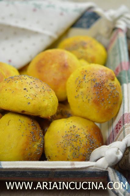Blog di cucina di Aria: Panini alla zucca da buffet