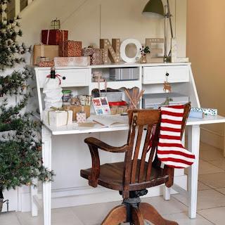 decoración recibidor navidad