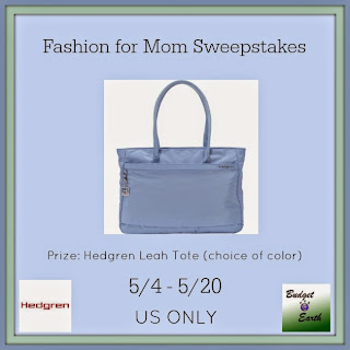 Enter the Fashion for Mom Giveaway. Ends 5/20