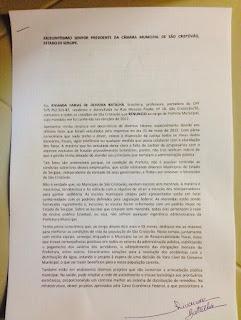 PRIMEIRA MÃO: Rivanda Batalha renuncia ao mandato de prefeita de São Cristóvão