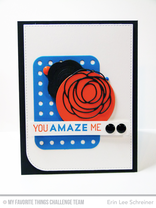 You Amaze Me Card by Erin Lee Schreiner featuring the Lisa Johnson Designs For the Boys stamp set and Scribble Roses Overlay Die-namics and the Blueprints 22 Die-namics #mftstamps