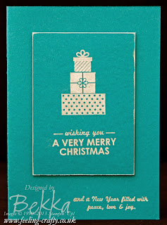 Wishing You - Fast Christmas Cards by UK based Stampin' Up! Demonstrator Bekka Prideaux