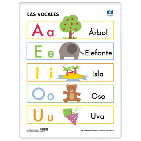 Memorama de las vocales PARA colorear - Imagui