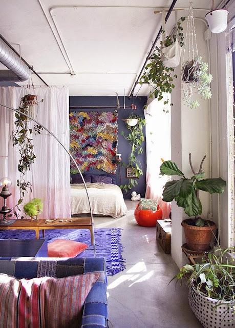 eclectic living room boho bohemian