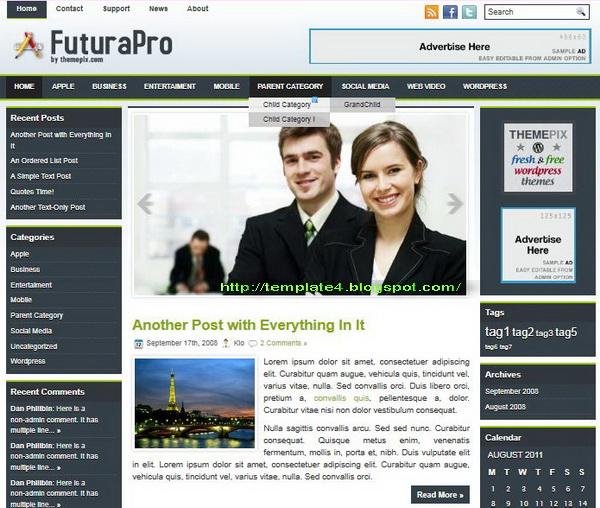 FuturaPro WordPress Theme