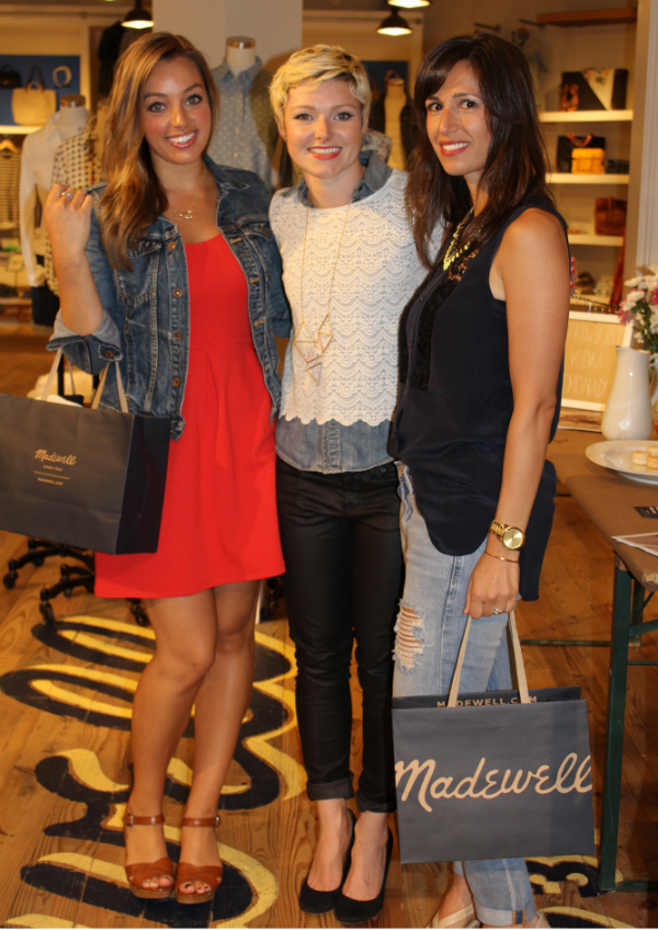 blogger styling event at madewell ohio