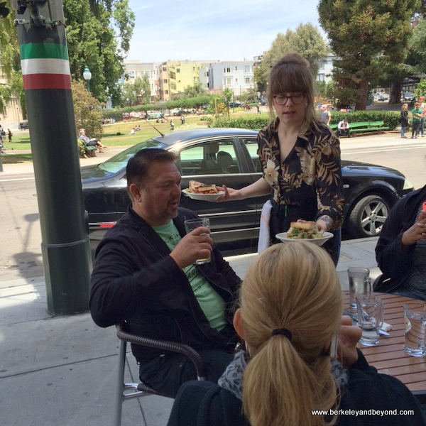 sidewalk service at Mario's Bohemian Cigar Store Cafe in San Francisco