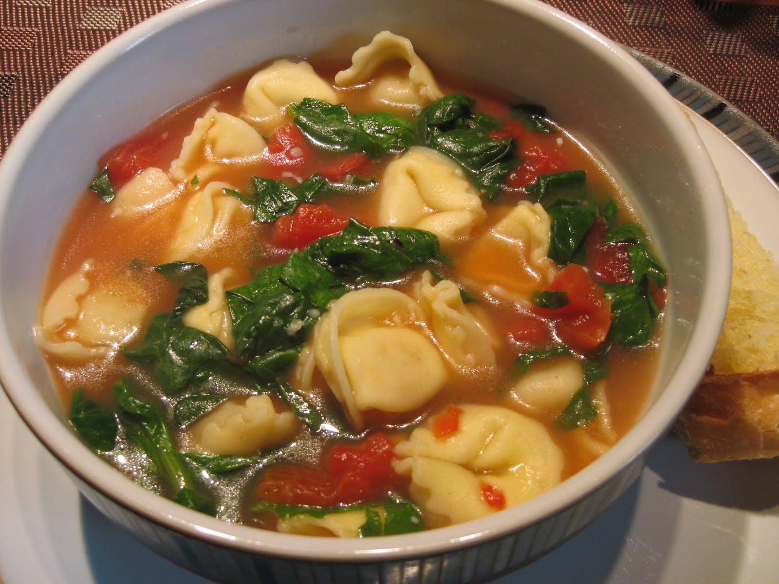 Just Messin' Around: Garlicky Tortellini Soup