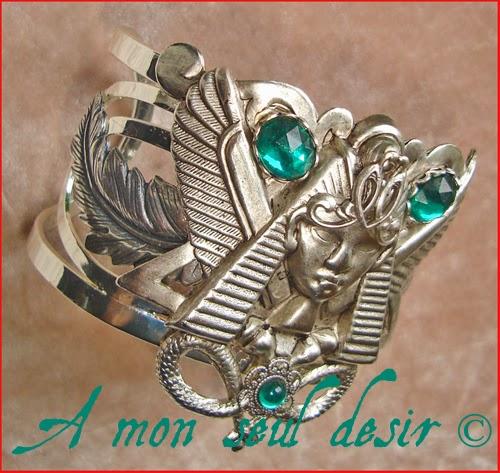 Bracelet égyptien Egypte Pharaon Cléopâtre Ramsès Aménophis Egypt Jewelery