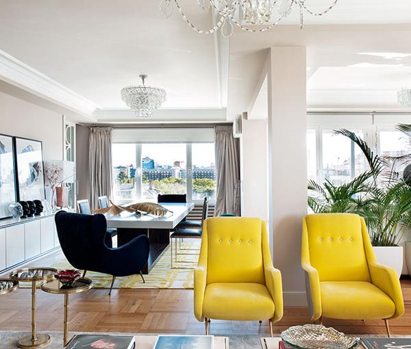 Sillones de ikea en el salon decorar tu casa es - Decoracion salon amarillo ...