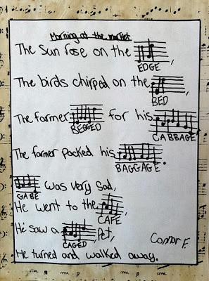 photo of Music Note Poems @ Runde's Room