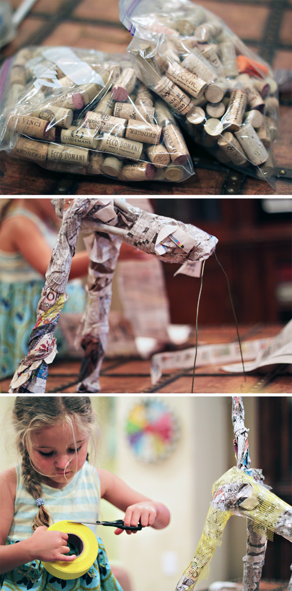 Wine cork giraffe tutorial