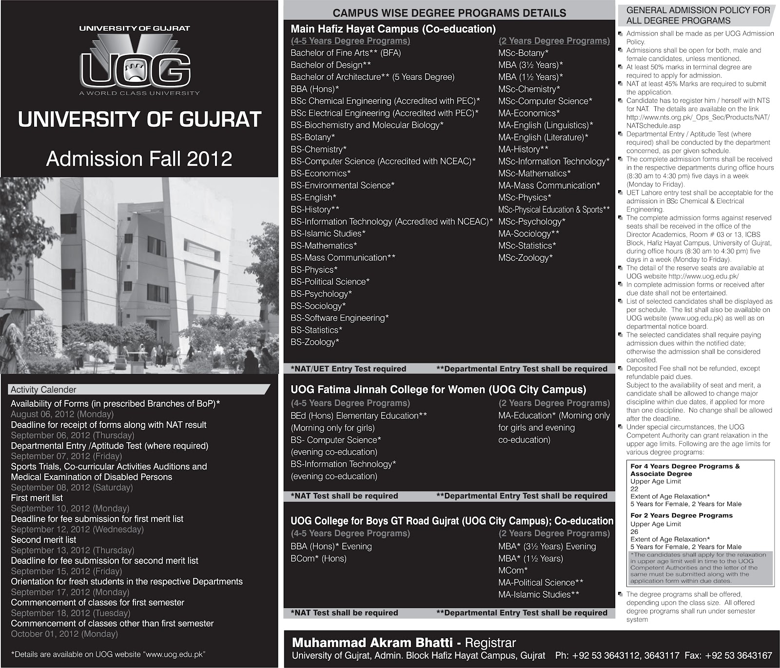 1st merit list bs english uog Uog's flawed online admissions the bane of students waseem ashraf butt september more than five students have been accepted in first merit list of bs english.