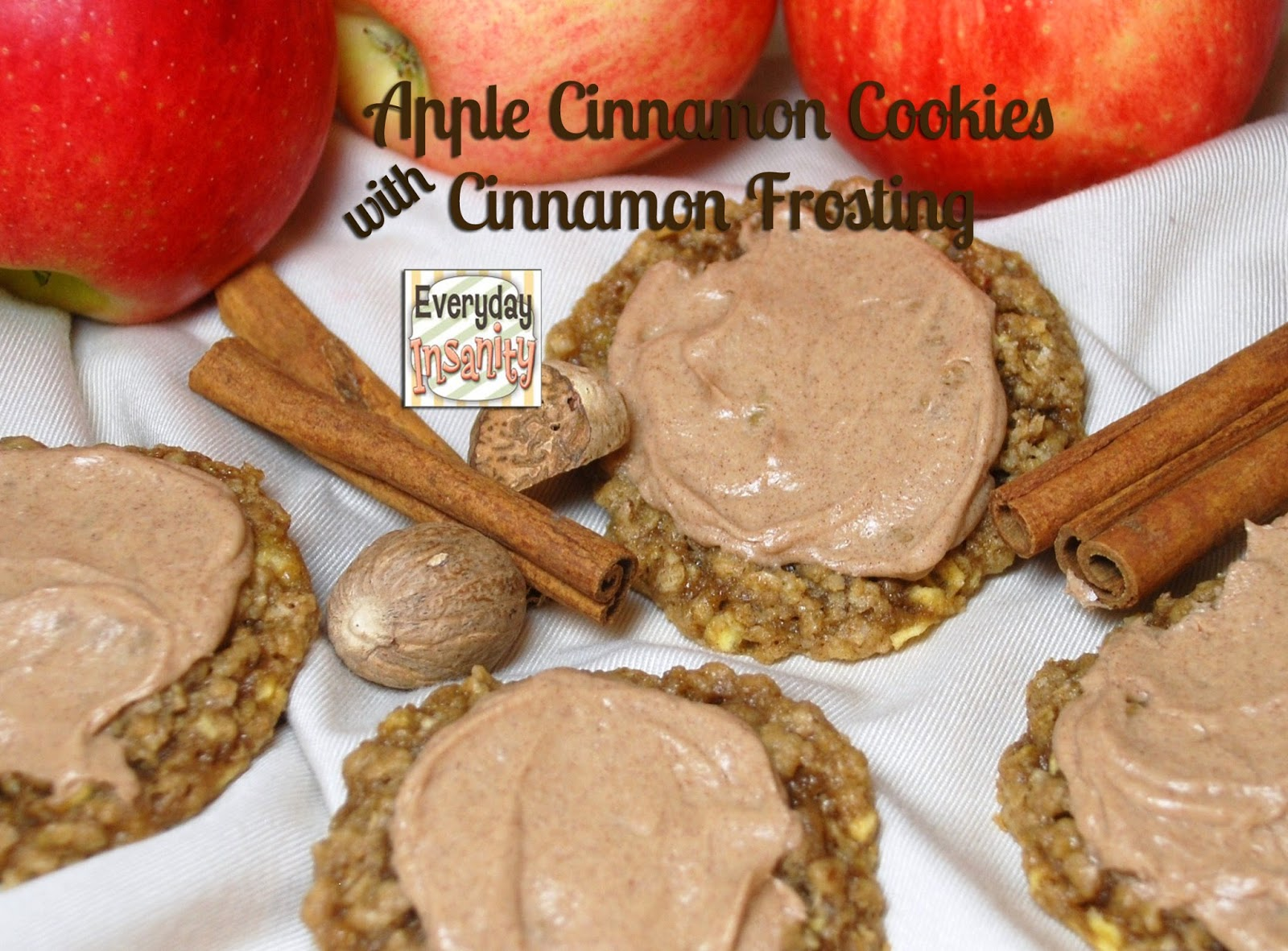 ... Insanity...: Apple Cinnamon & Oatmeal Cookie with Cinnamon Frosting