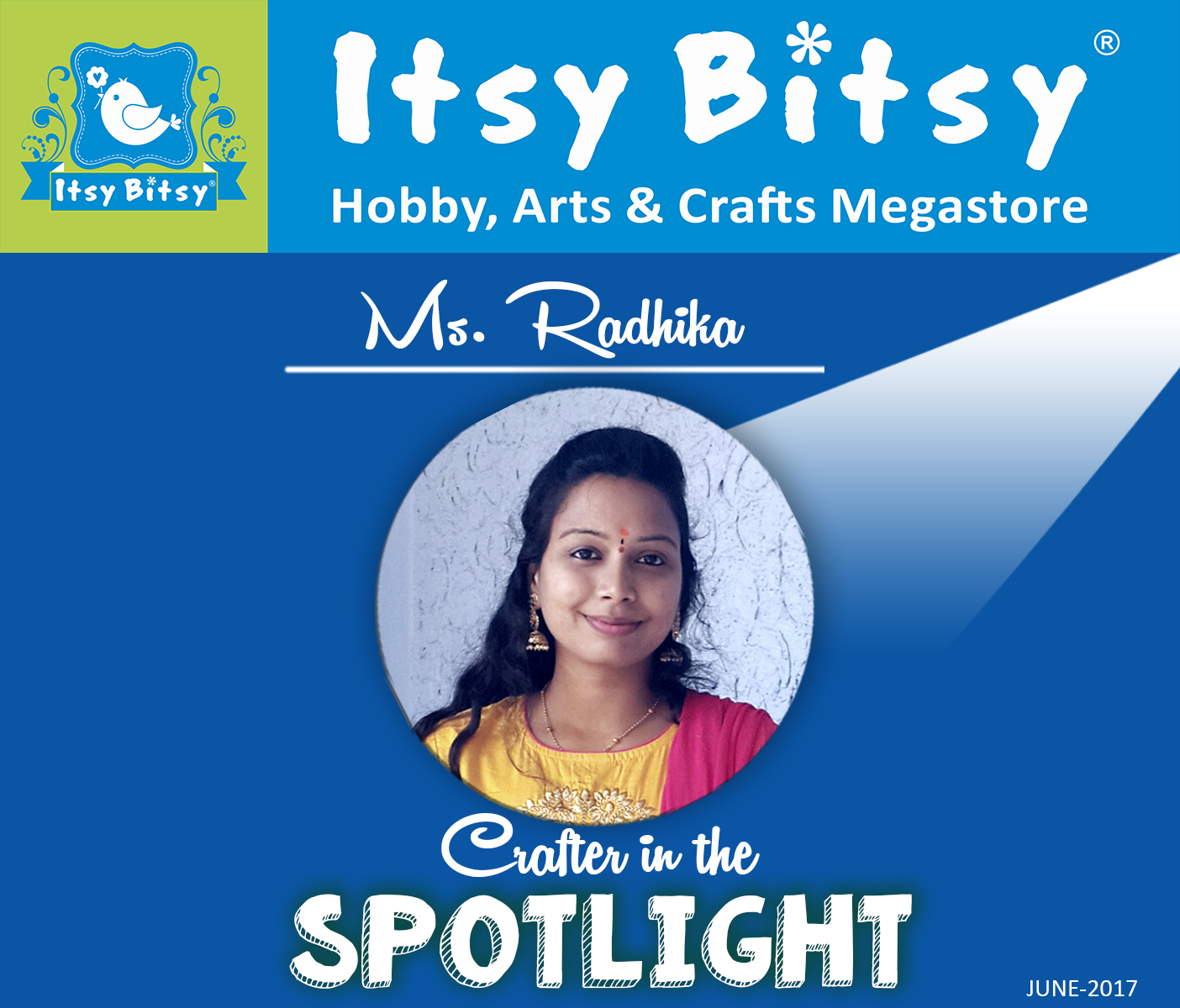 Itsybitsy crafter in the Spotlight June 2017