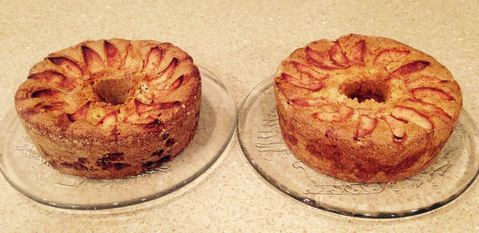 Gluten Free Jewish Apple Cake vs Regular Comparison
