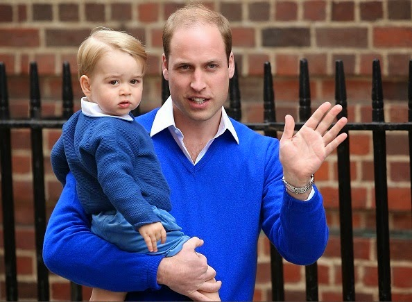 Prince William And Prince George At St Mary's Hospital