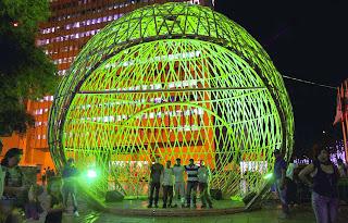 Desain bambu unik dari rotan , modern