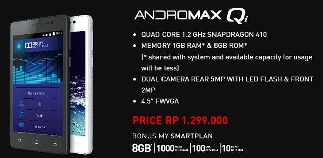 Spesifikasi Harga Smartfren Andromax Qi