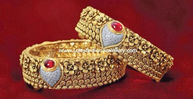 Contemporary Antique Gold Bangles