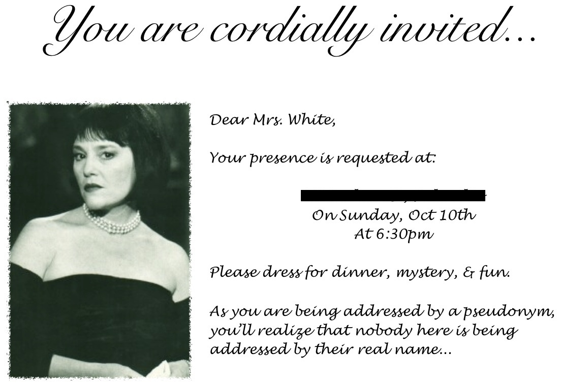 Murder Mystery Dinner Invitation is awesome invitations template