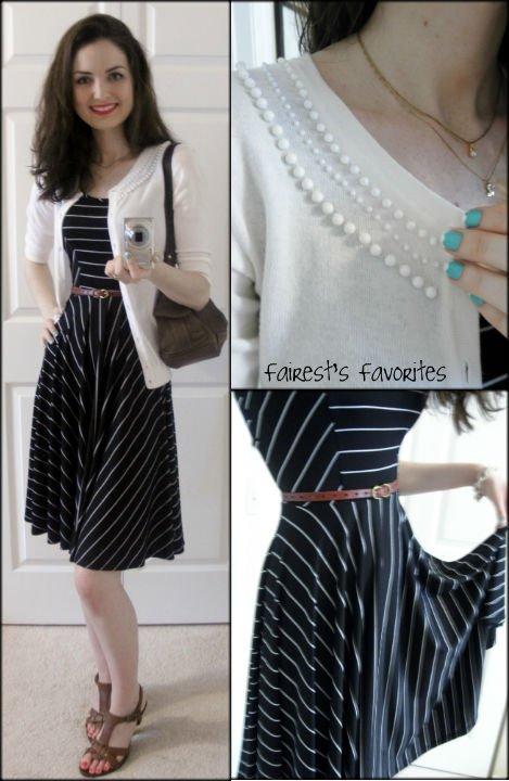 Fairest\'s Favorites : OOTD: Black & White Stripe Dress