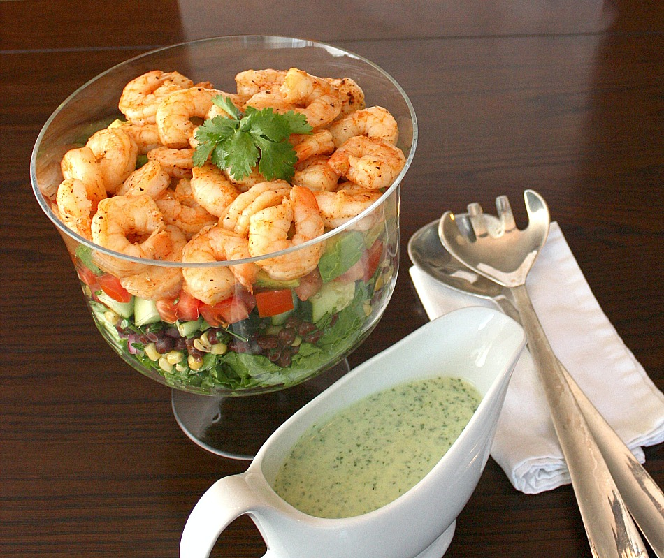 APPLE A DAY: Mexican Shrimp Cobb Salad