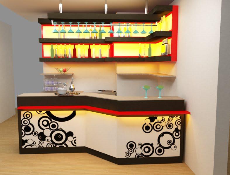 Dise arte bar para departamento en miraflores for Disenos de bar de madera