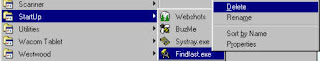 startup program windows 98