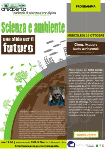 areaperta scienza e ambiente antonello provenzale