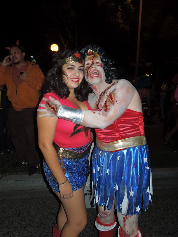 West Hollywood Halloween Carnaval zombie Wonder Woman