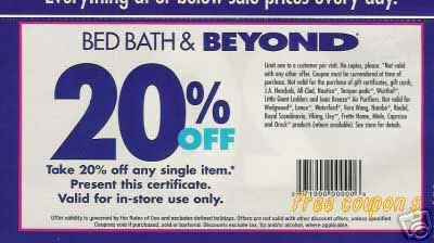 free printable coupons bed bath and beyond coupons. Black Bedroom Furniture Sets. Home Design Ideas