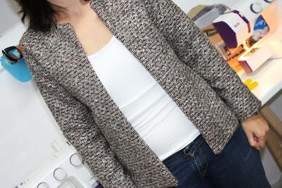Taller de costura chaqueta estilo chanel